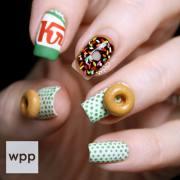 donut nail art krispy kreme inspired