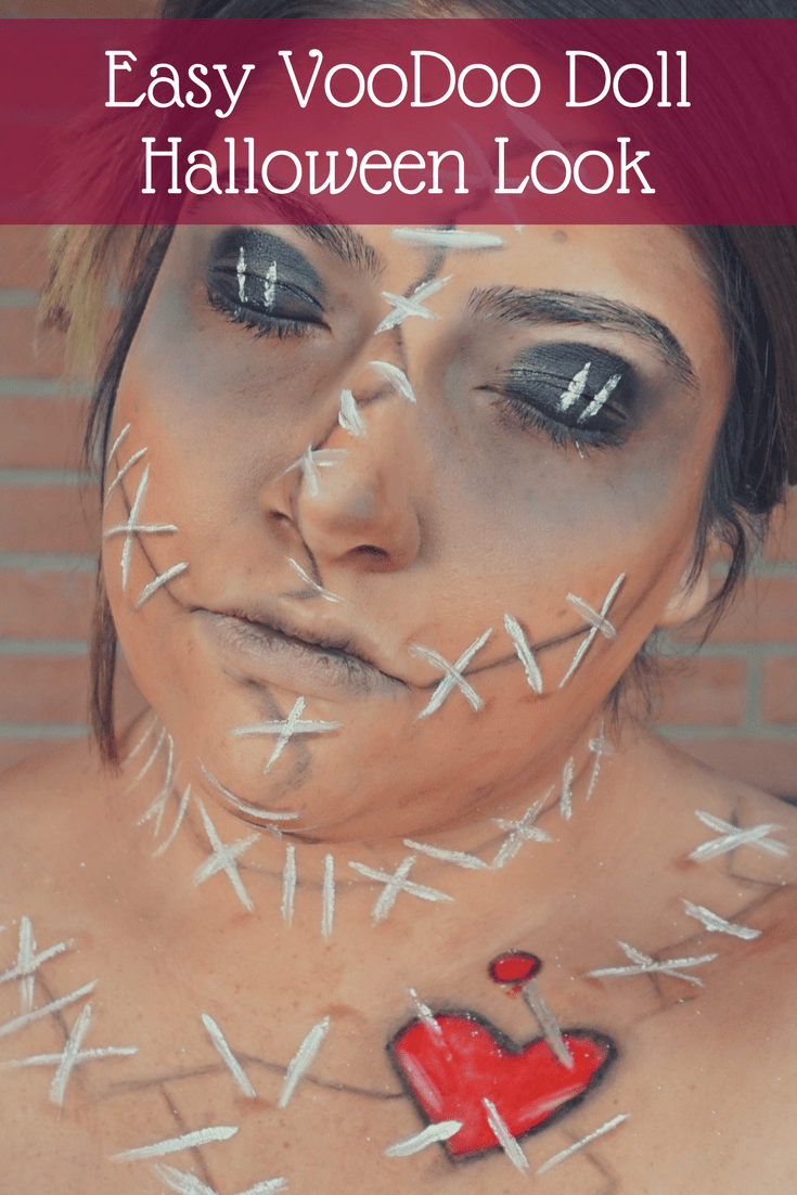 beauty mix | easy voodoo doll halloween makeup - beauty with lily