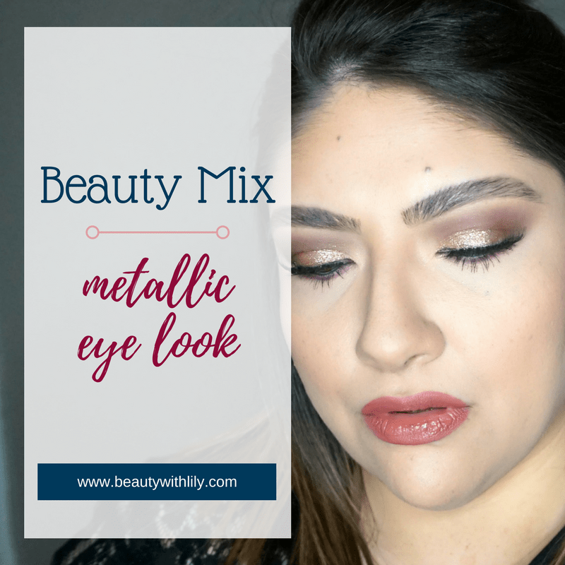 Metallic Eye Look / Glitter Eye Look | Beauty With Lily #beautyblogger #glittereyelook