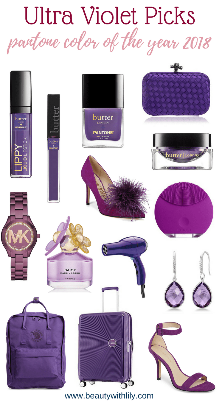 Trend To Try Ultra Violet | Pantone Color of the Year | Color of the Year 2018 | Pantone Ultra Violet | Beauty With Lily #beautywithlily #pantone #ultraviolet