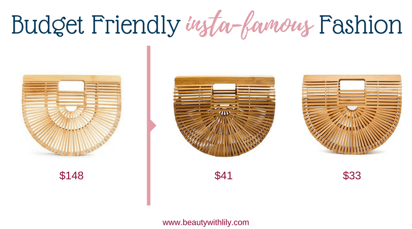 Budget Friendly Insta-Famous Fashion Pieces // High-End Dupes // High-End Knockoffs // Fashion Dupes // Affordable Bamboo Bags | Beauty With Lily