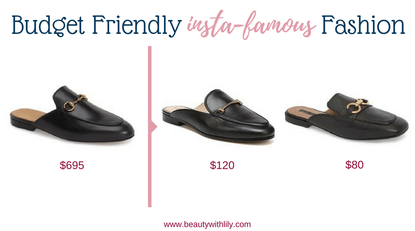 Budget Friendly Insta-Famous Fashion Pieces // High-End Dupes // High-End Knockoffs // Fashion Dupes // Affordable Black Mules | Beauty With Lily
