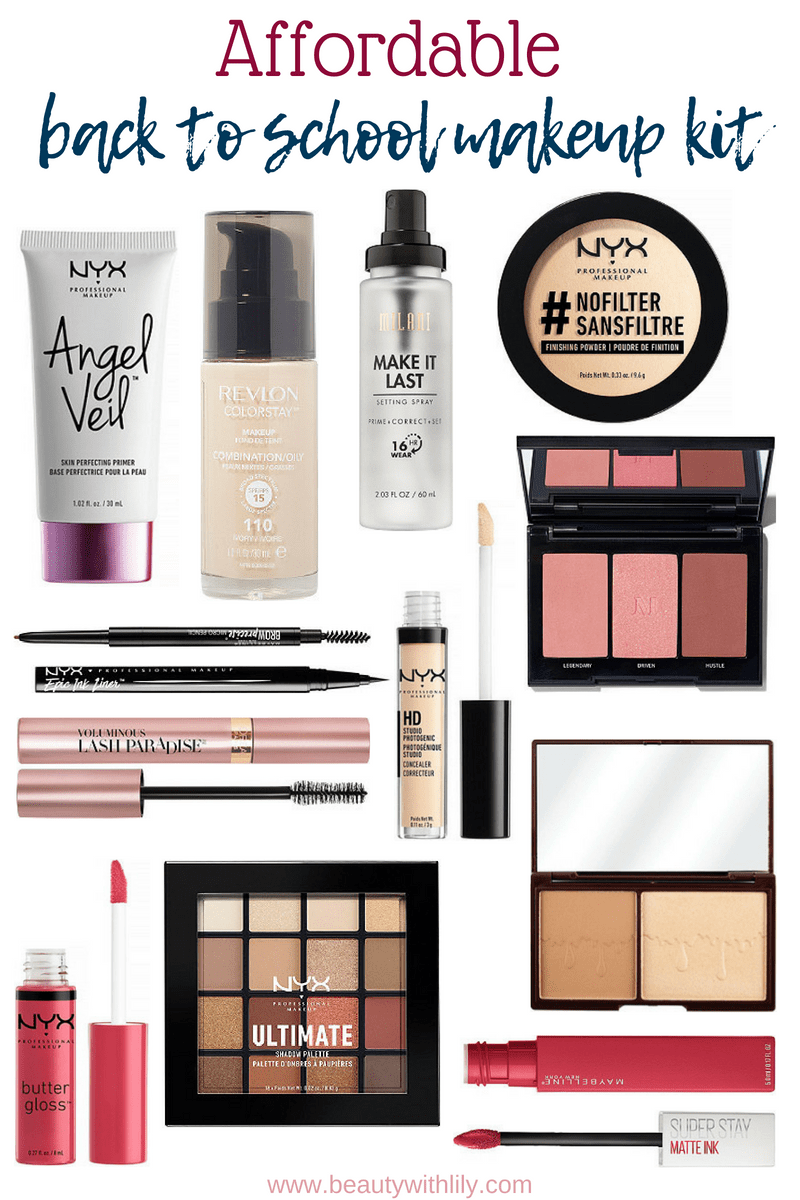 Drugstore Back To School Makeup Kit // Drugstore Makeup Kit // Affordable Makeup Kit // Affordable Makeup | Beauty With Lily