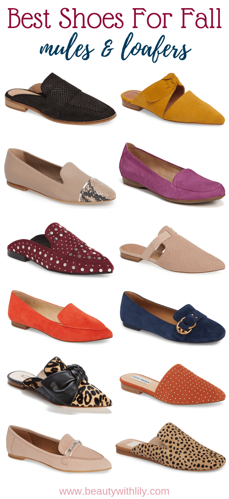 Best Shoes For Fall // Best Mules For Fall // Best Mules // Cute Mules // Comfortable Shoes // Shoes For Fall // Mules For Fall | Beauty With Lily