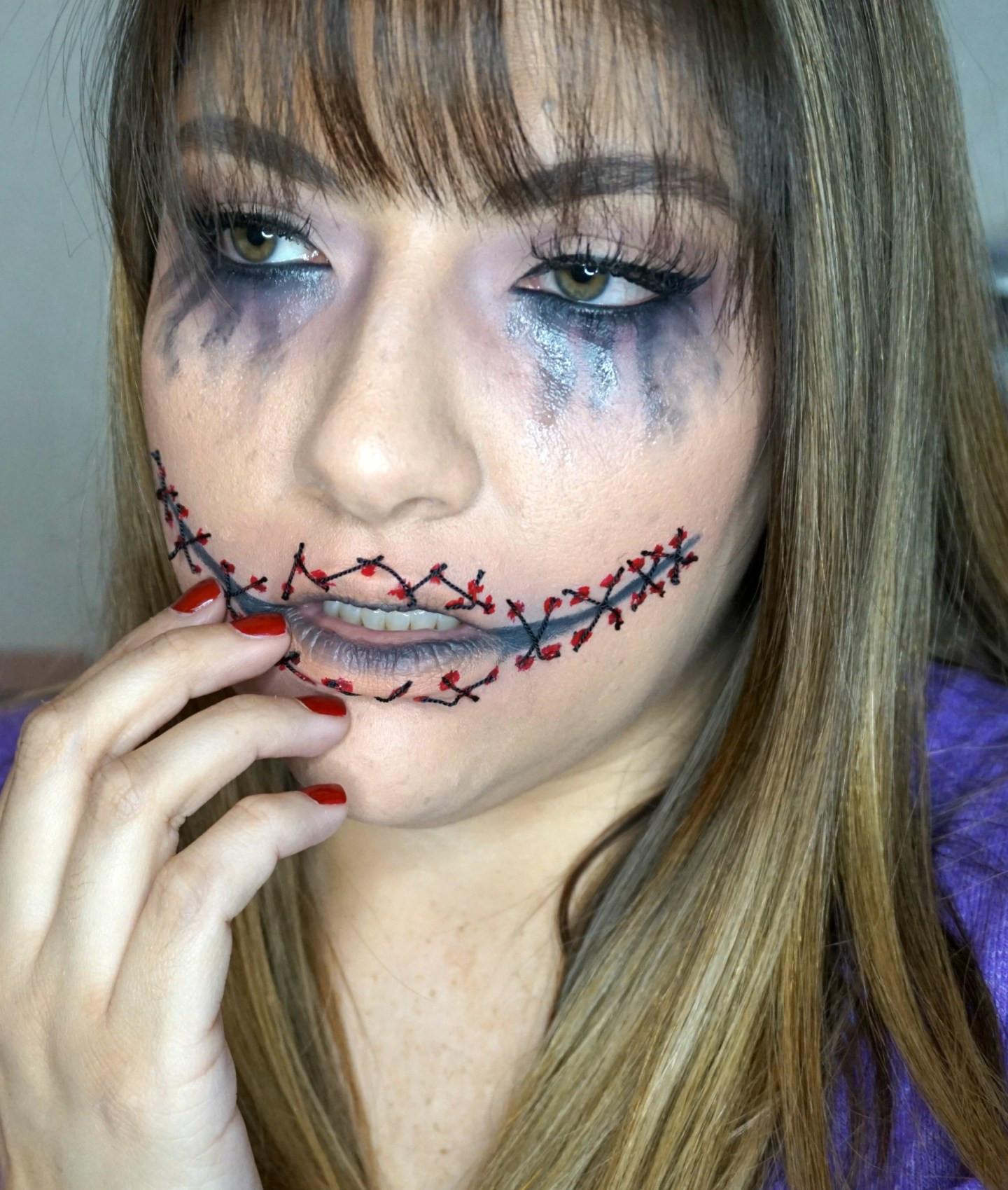 Stitched Mouth Halloween Look // Halloween Makeup Look // Easy Halloween Makeup | Beauty With Lily
