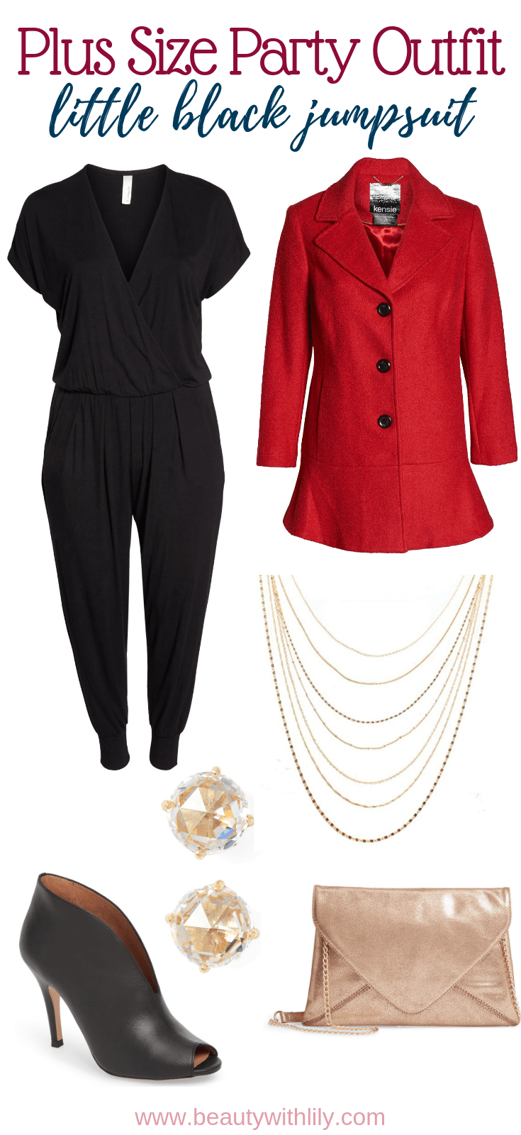 Holiday Outfit Inspiration // Holiday Party Outfits // Winter Outfits // Winter Fashion // Plus Size Winter Outfits // Plus Size Fashion // Plus Size Outfit Inspiration // Plus Size Party Outfit | Beauty With Lily