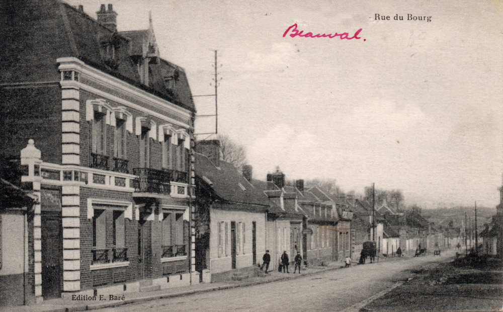 Rue du bourg (actuellement rue Charles Cagny)