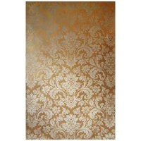 Handpainted Damask Canvas Panel in Stone Gold |Beaux-Arts ...
