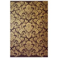 Beaux-Arts Classic Products Old Wood Gold Damask Canvas Panel