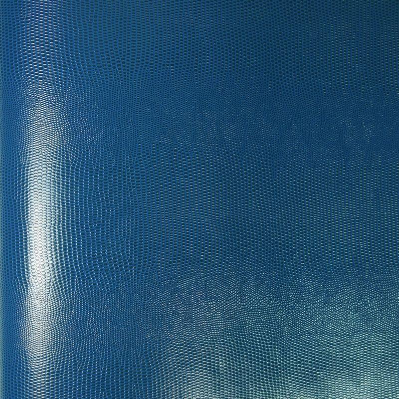 papier simili cuir lezard bleu