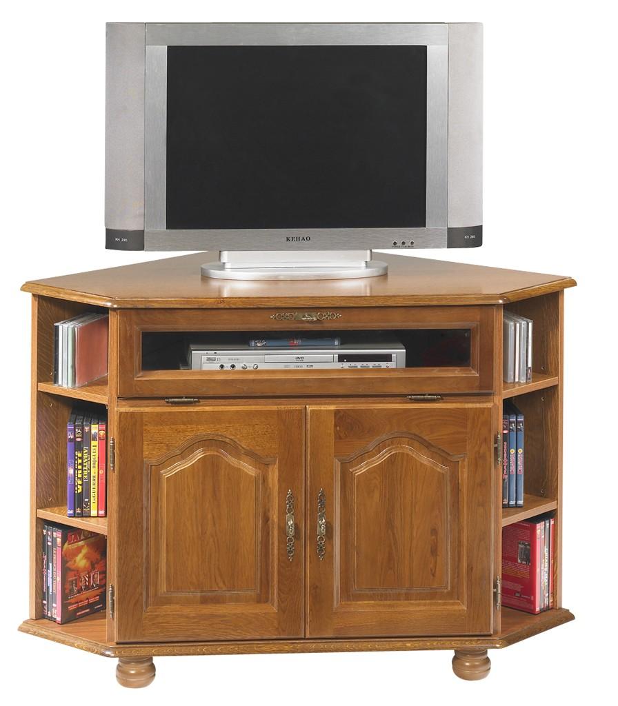 meuble tv d angle chene 2 portes