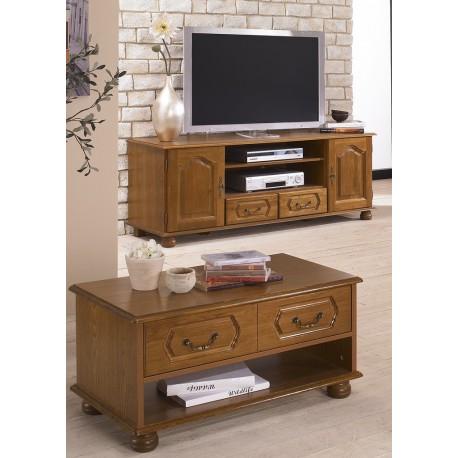 ensemble meuble tv et table basse chene rustique beaux meubles pas chers