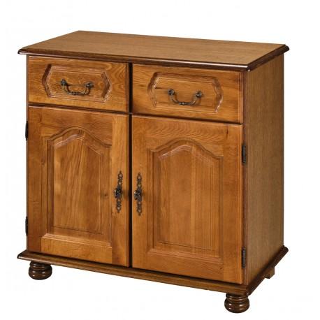 bahut chene 2 portes 2 tiroirs beaux meubles pas chers