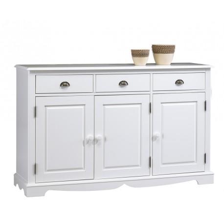 buffet blanc 3 portes 3 tiroirs beaux meubles pas chers