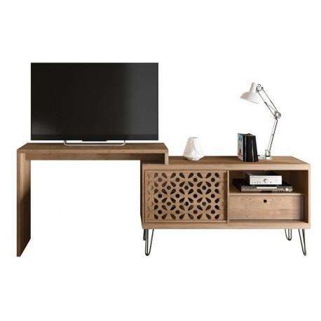 meuble tv et table orientable chene beaux meubles pas chers