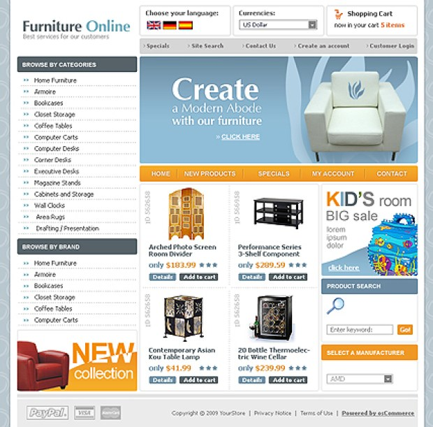 furnitureonline-template-oscommerce-gratuit