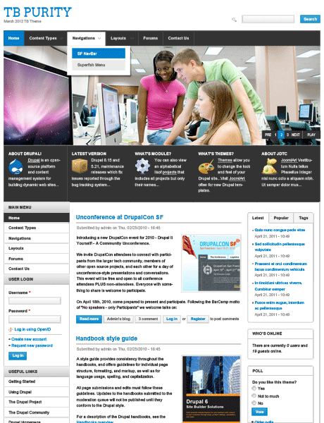 purity-theme-drupal-gratuit