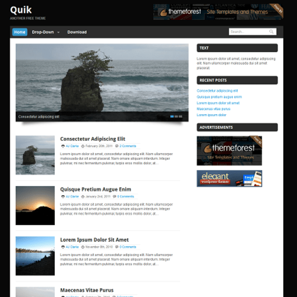 quik-theme-wordpress-magazine-blog-gratuit