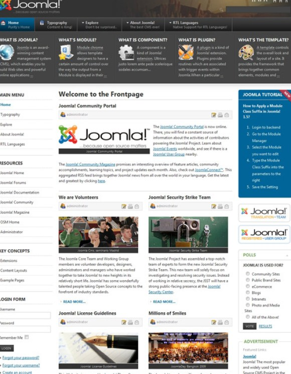 5 beaux templates joomla gratuits usage multiple - Site d architecture gratuit ...