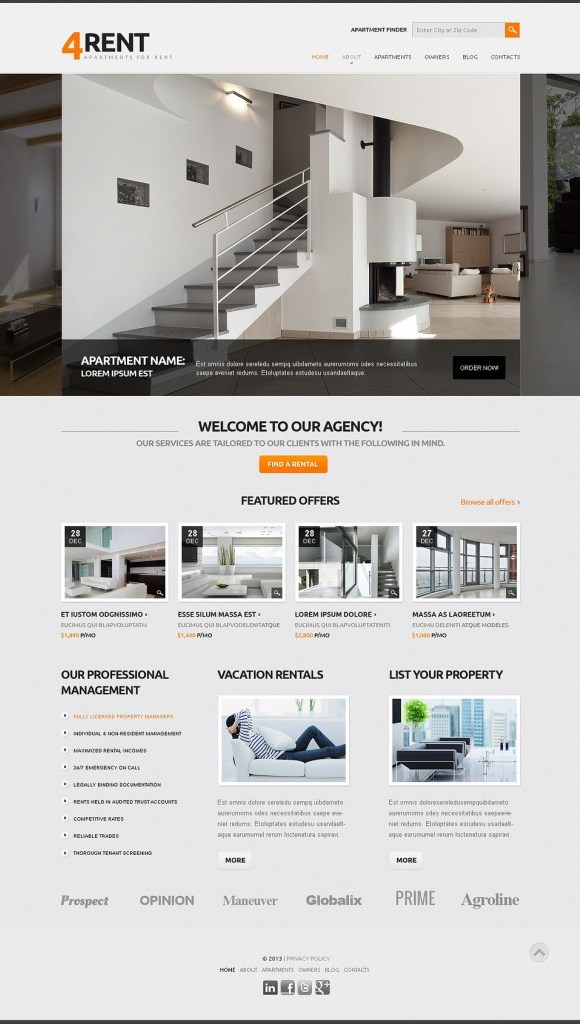 4rent-template-joomla-immobilier