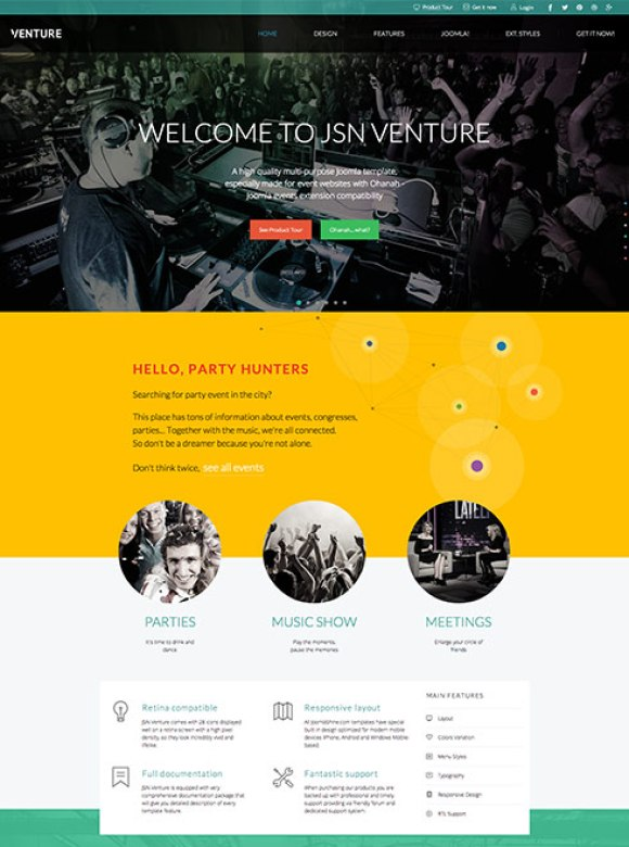 jsnventure-template-joomla-site-evenement