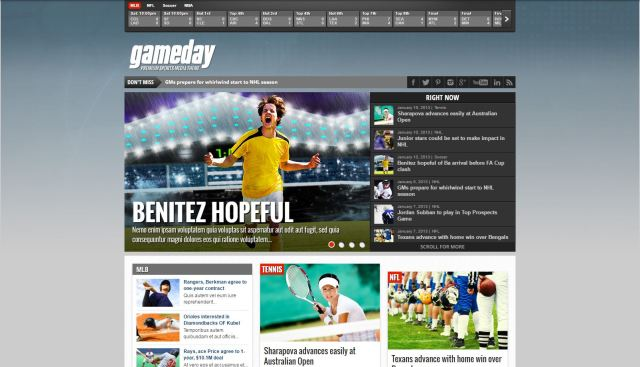 gameday-theme-wordpress-site-sport