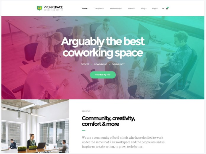 Thème wordpress workspace