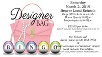Designer Bag Bingo - Scholarship Fundraiser - Beaver Local ...