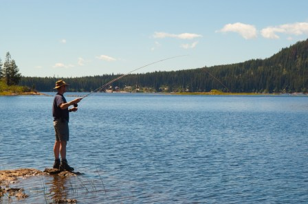 Fishing at Beaver Lake