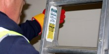 Ladder asset tag holder