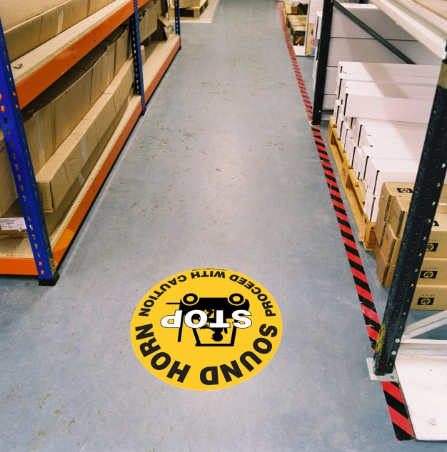 safety warning sign for forklifts