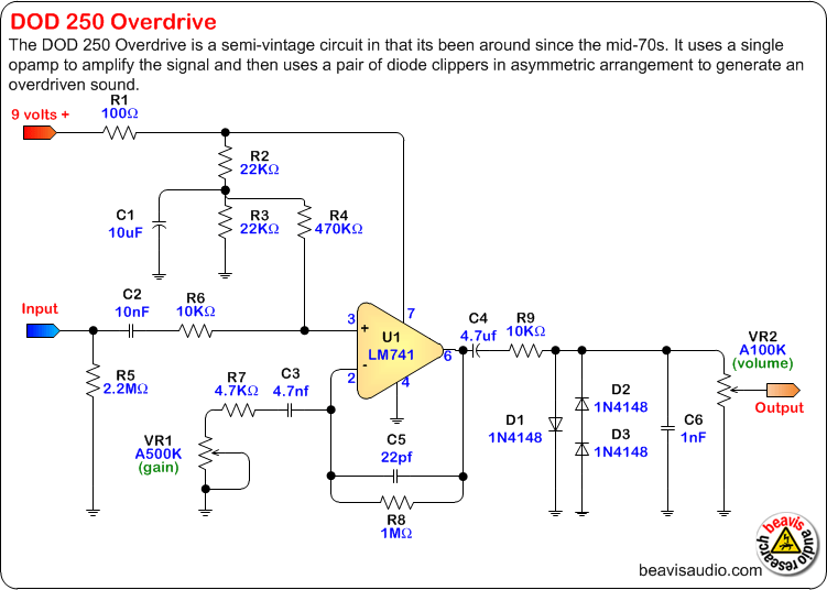 Org Distortion Pedal Circuit For Guitar Effects Pcb Schematic