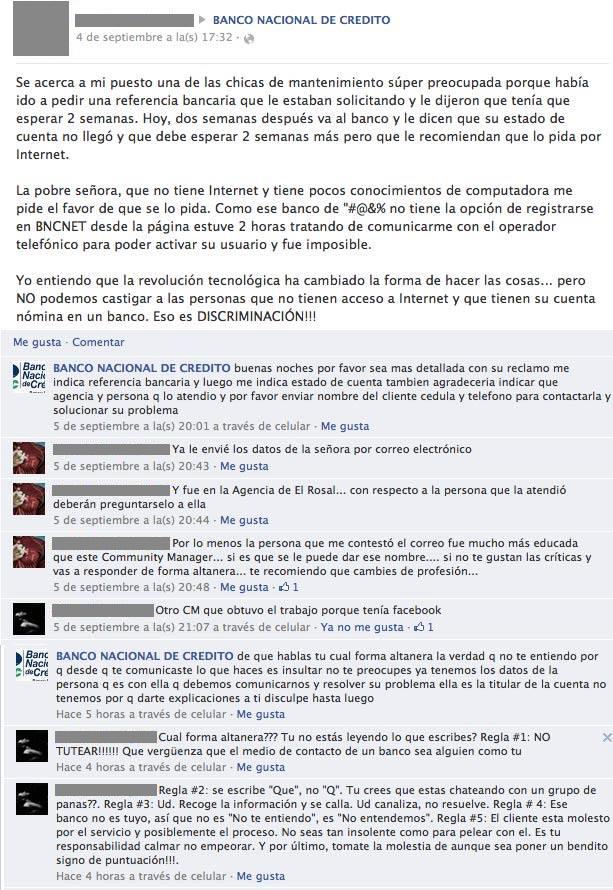Caso BNC en Facebook