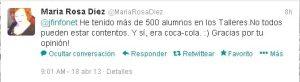 Tweet_MariaRosaDiez