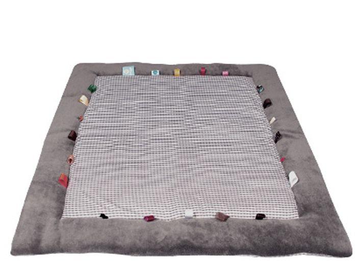 tapis de jeu et d eveil hippo grey gris