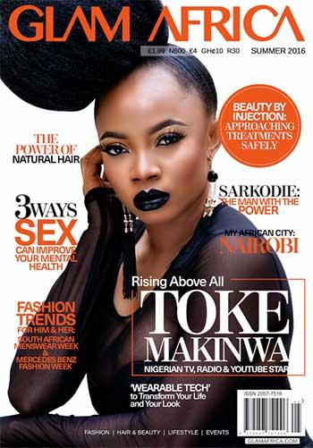 Tv Media Personality Toke Makinwa Covers Glam Africa