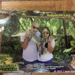 Picture with live baby croc – Crocodile Farm