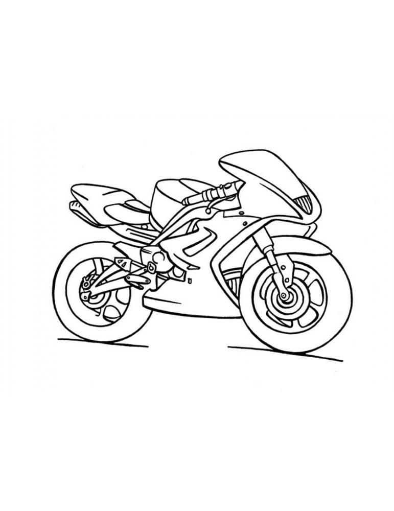 dessin à imprimer: Dessin Moto Kawasaki A Imprimer