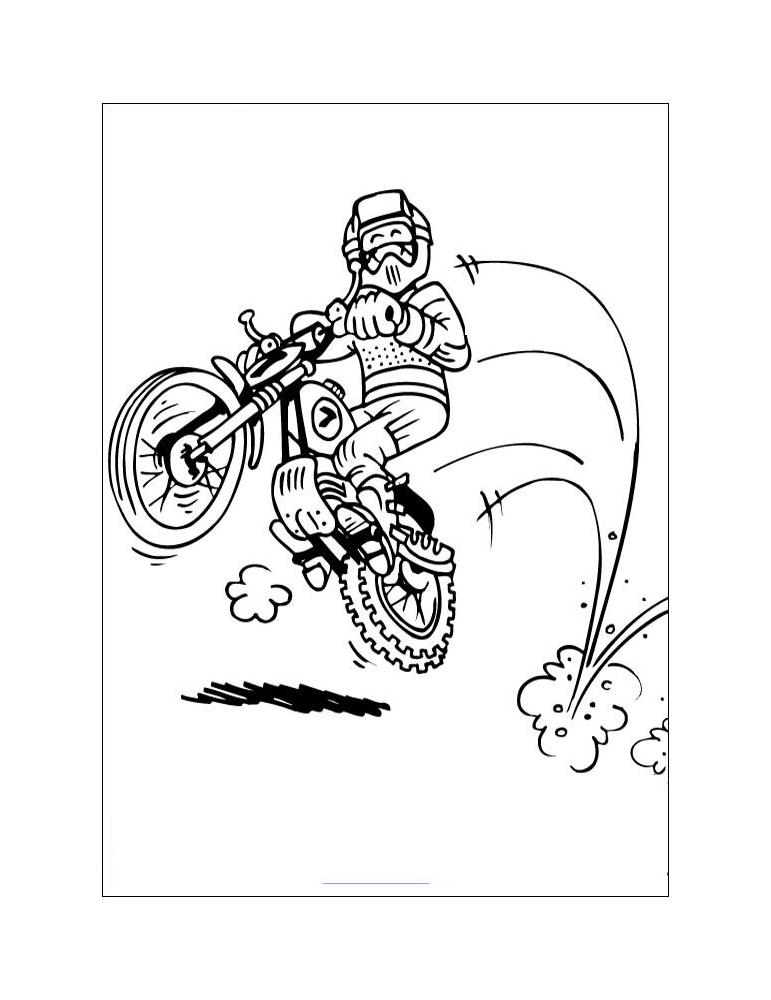 Coloriage Moto Enfant