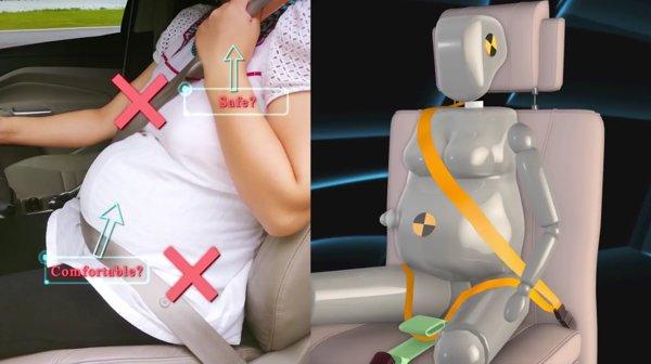 Resultado de imagem para gravida usando cinto de segurança