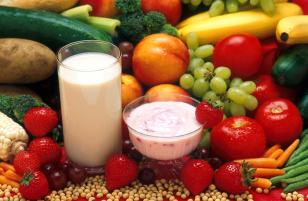frutas e leite