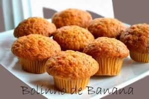receitas para fazer com os alunos - Bolinho de banana
