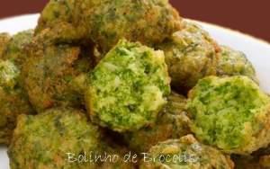 receitas para fazer com os alunos - bolinho de brócolis