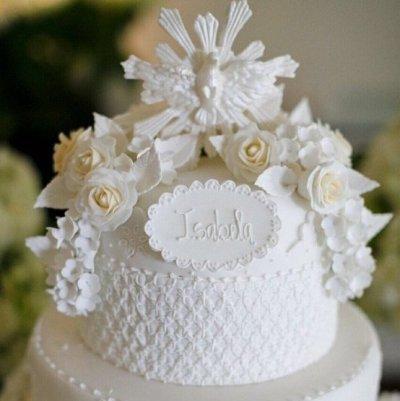 bolo de batizado mais lindo do mundo branco