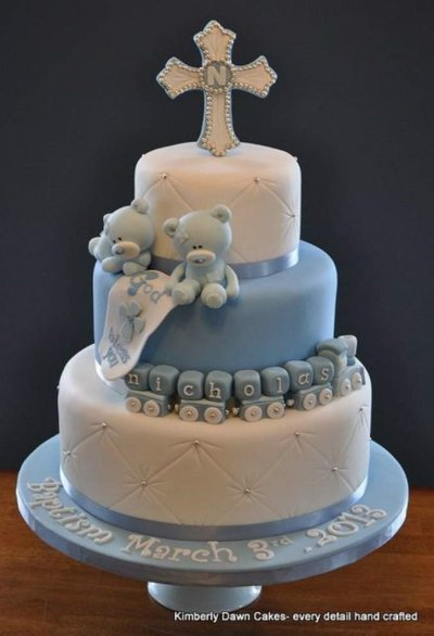 bolo de batizado mais lindo do mundo com cruz e urso