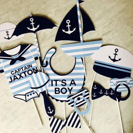 Chá de bebê marinheiro modelo 14