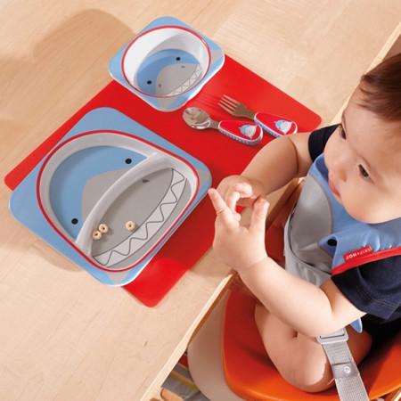 acessórios para bebê prato e talheres de refeição