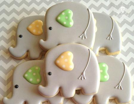 chá de bebê elefantinho doces
