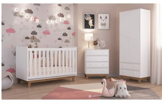 quarto bebê menina completo rosa