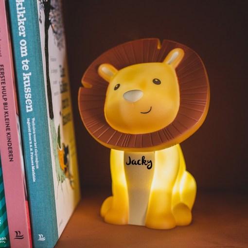 Leeuw lamp met naam